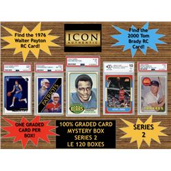 Icon Authentic 100% Graded Card Series 2 Mystery Box (Guaranteed (1) Graded PSA or Beckett Card in E