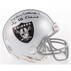 "Jim Plunkett Signed Oakland Raiders Mini Helmet Inscribed ""2x SB Champs"" (Radtke COA)"