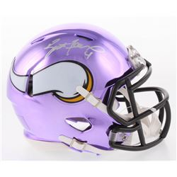 Brett Favre Signed Minnesota Vikings Chrome Speed Mini-Helmet (Radtke COA)