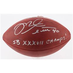 "Mike Alstott Signed Official Super Bowl XXXVII Game Ball Inscribed ""SB XXXVII Champs!"" (Radtke COA)"
