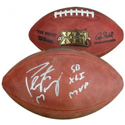 "Peyton Manning Signed ""The Duke"" Super Bowl XLI Official NFL Game Ball Inscribed ""SB XLI MVP"" (Fanat"