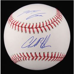 Charlie Blackmon  Nolan Arenado Signed OML Baseball (Fanatics Hologram  MLB Hologram)