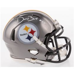 Devin Bush Signed Pittsburgh Steelers Chrome Speed Mini-Helmet (Radtke COA)
