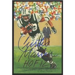 Curtis Martin Signed 2012 LE New York Jets 4x6 Pro Football Hall of Fame Art Collection Card Inscrib