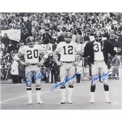 Terry Bradshaw, Franco Harris,  Rocky Bleier Signed Steelers 16x20 Photo (JSA COA)