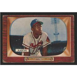 1955 Bowman #179 Hank Aaron