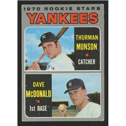 1970 Topps #189 Rookie Stars / Thurman Munson RC / Dave McDonald RC