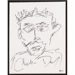 Charlie Day Signed 11x14 Sketch On Canvas (Beckett COA)