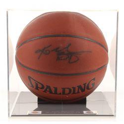 Kobe Bryant Signed NBA Basketball with High-Quality Display Case (PSA Hologram)