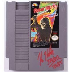 "Kane Hodder Signed Original 1988 ""Friday The 13th"" Nintendo NES Video Game Inscribed ""Jason 7, 8, 9,"
