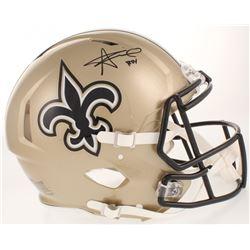 "Alvin Kamara Signed New Orleans Saints Full-Size Authentic On-Field Speed Helmet Inscribed ""ROY"" (Ra"