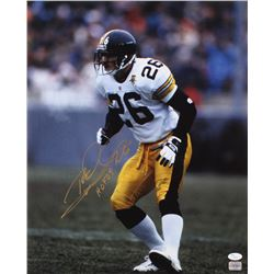 "Rod Woodson Signed Pittsburgh Steelers 16x20 Photo Inscribed ""HOF 09"" (JSA COA)"
