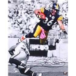 Hines Ward Signed Pittsburgh Steelers 16x20 Photo (Beckett COA)
