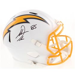 Antonio Gates Signed Los Angeles Chargers Full-Size Color Rush Speed Helmet (Beckett COA)