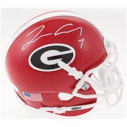 Lorenzo Carter Signed Georgia Bulldogs Mini Helmet (JSA COA)