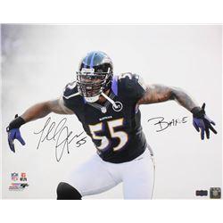"Terrell Suggs Signed Baltimore Ravens 16x20 Photo Inscribed ""BANE"" (Radtke COA)"
