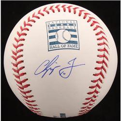 Chipper Jones Signed Hall of Fame OML Baseball (JSA Hologram)