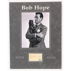 "Bob Hope Signed ""NBC"" 14x18 Custom Framed Cut Display (Beckett LOA)"
