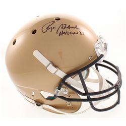 "Roger Staubach Signed Navy Midshipmen Full-Size Helmet Inscribed ""Heisman '63"" (Radtke COA)"