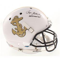 "Roger Staubach Signed Navy Midshipmen Full-Size Helmet Inscribed ""Heisman '63"" (JSA COA)"