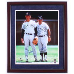 Yogi Berra  Graig Nettles Signed New York Yankees 22x26 Custom Framed Photo Display (Steiner COA  ML