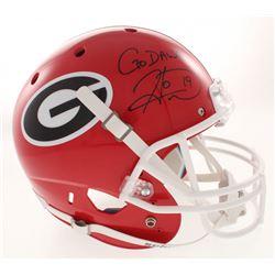"Hines Ward Signed Georgia Bulldogs Full-Size Helmet Inscribed ""Go Dawgs!"" (Radtke COA)"