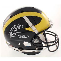 "Rashan Gary Signed Michigan Wolverines Full-Size Helmet Inscribed ""Go Blue"" (Radtke COA)"