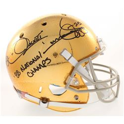 """Raghib """"Rocket"""" Ismail Signed Notre Dame Fighting Irish Full-Size Helmet Inscribed """" '88 National Ch"""