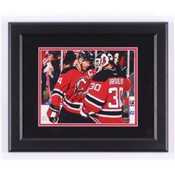Bryce Salvador Signed New Jersey Devils 13.5x16.5 Custom Framed Photo Display (Steiner COA)