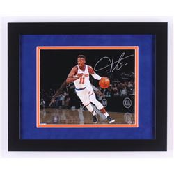 Frank Ntilikina Signed New York Knicks 13x16 Custom Framed Photo Display (Steiner Hologram)