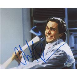 "Christian Bale Signed ""American Psycho"" 8x10 Photo (Beckett COA)"