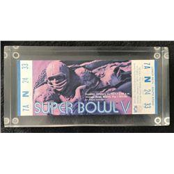 1971 Super Bowl V Full Unused Ticket
