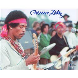 "Henry Diltz Signed ""Jimi Hendrix"" 8x10 Photo (Beckett COA)"