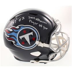 "Chris Johnson Signed Tennessee Titans Full-Size Speed Helmet Inscribed ""2009 Offensive Player of the"