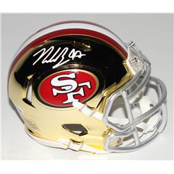Nick Bosa Signed San Francisco 49ers Chrome Speed Mini-Helmet (Beckett COA)