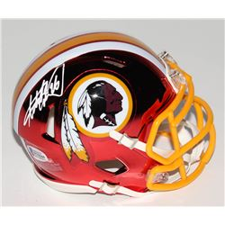Adrian Peterson Signed Washington Redskins Chrome Speed Mini-Helmet (Beckett COA)