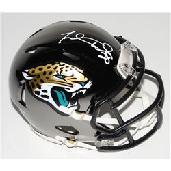 Fred Taylor Signed Jacksonville Jaguars Chrome Speed Mini-Helmet (Beckett COA)