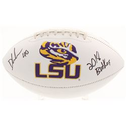 "Devin White Signed LSU Tigers Logo Football Inscribed ""2018 Butkus"" (Beckett COA)"