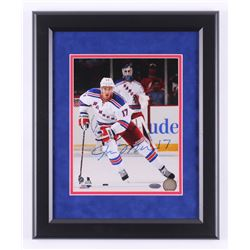 John Moore Signed New York Rangers 13x16 Custom Framed Photo Display (Steiner COA)