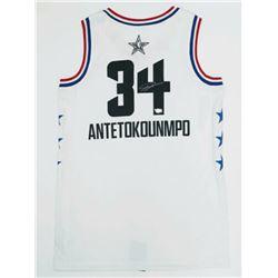 Giannis Antetokounmpo Signed Milwaukee Bucks 2019 All-Star Jersey (Fanatics Hologram)