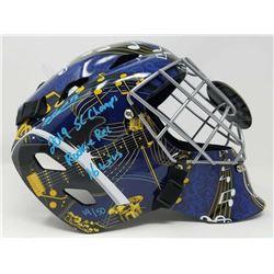 "Jordan Binnington Signed St. Louis Blues Limited Edition Full Size Goalie Mask Inscribed ""2019 SC Ch"