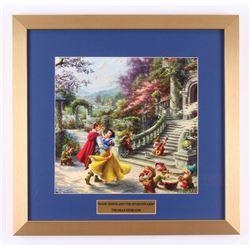 "Thomas Kinkade Walt Disney's ""Snow White and the Seven Dwarfs"" 17.5x18 Custom Framed Print"