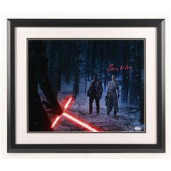 "Daisy Ridley Signed ""Star Wars: The Force Awakens"" 22x26 Custom Framed Photo Display (PSA COA  Stein"