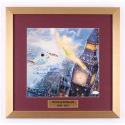 "Margaret Kerry Signed Thomas Kinkade ""Peter Pan"" 17.5x18 Custom Framed Print Display Inscribed ""Tink"