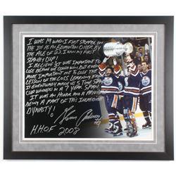 Glenn Anderson Signed Edmonton Oilers 22x26 Custom Framed Photo with Extensive Inscription (Steiner