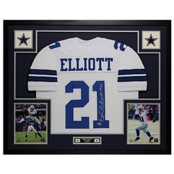 Ezekiel Elliott Signed 35x43 Custom Framed Jersey (Beckett COA)