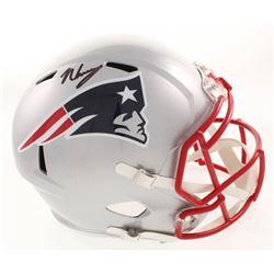 N'Keal Harry Signed New England Patriots Full-Size Speed Helmet (Beckett COA)