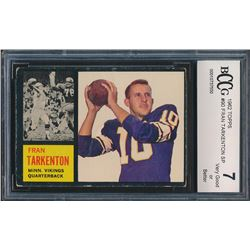 1962 Topps #90 Fran Tarkenton SP RC (BCCG 7)