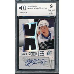 2008-09 SPx #190 Steven Stamkos Jersey Autograph RC  (BCCG 9)