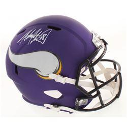 Adrian Peterson Signed Minnesota Vikings Matte Purple Full-Size Speed Helmet (Beckett COA)